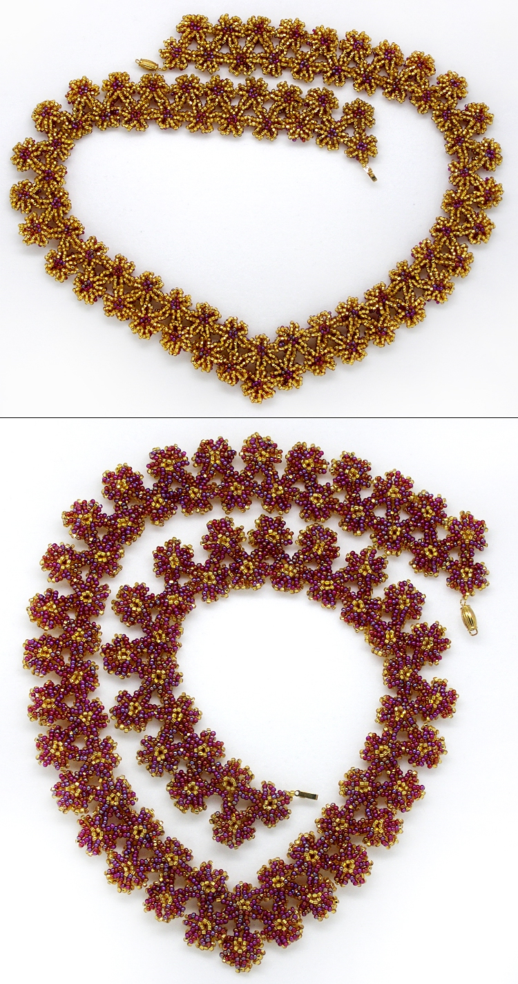 Necklace «Gold field»