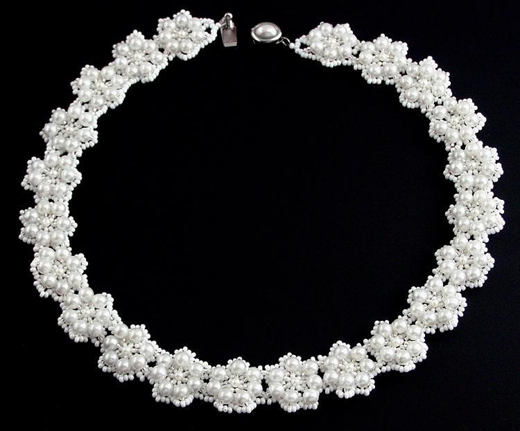 Necklace «Bouquet of the bride»