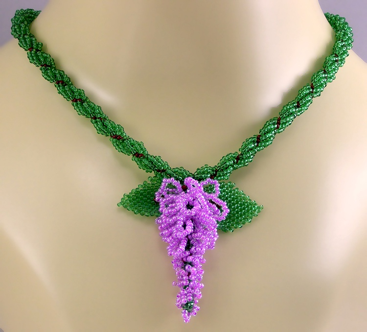 Necklace «Lilac branch»