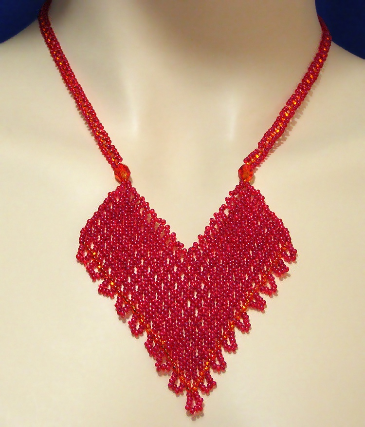 Necklace «Hot heart»