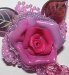 Brooch «Pink dreams»