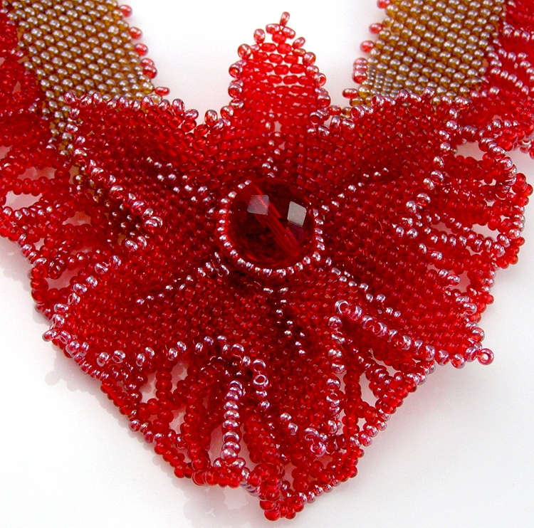 Necklace «Red Empress»
