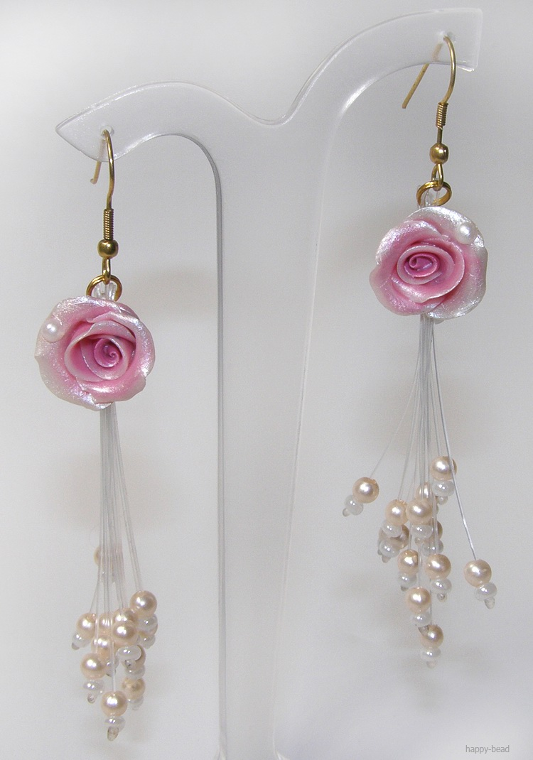Ear rings «Magic rose»