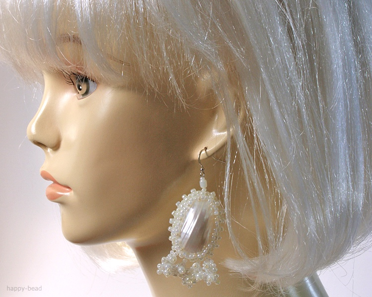 Ear rings «Frozen river»