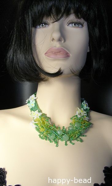 Necklace Green lawn