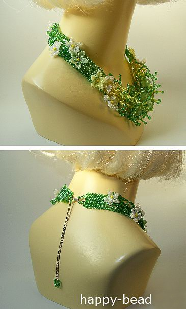 Necklace «Green lawn»