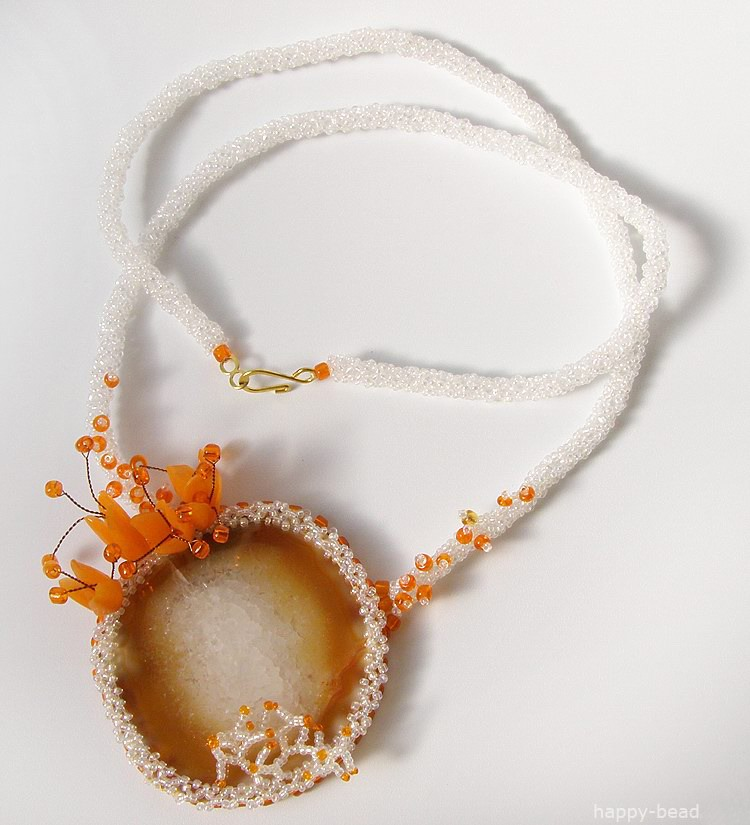 Necklace «The kind sun»