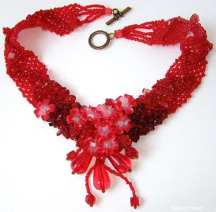 Necklace «Fiery charm»