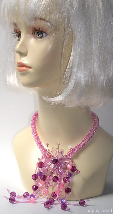 Necklace «Fantastic lotus»