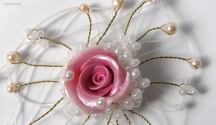 Necklace «Magic rose»
