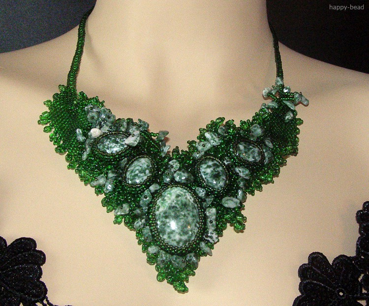 Necklace «Rainforest impressions»