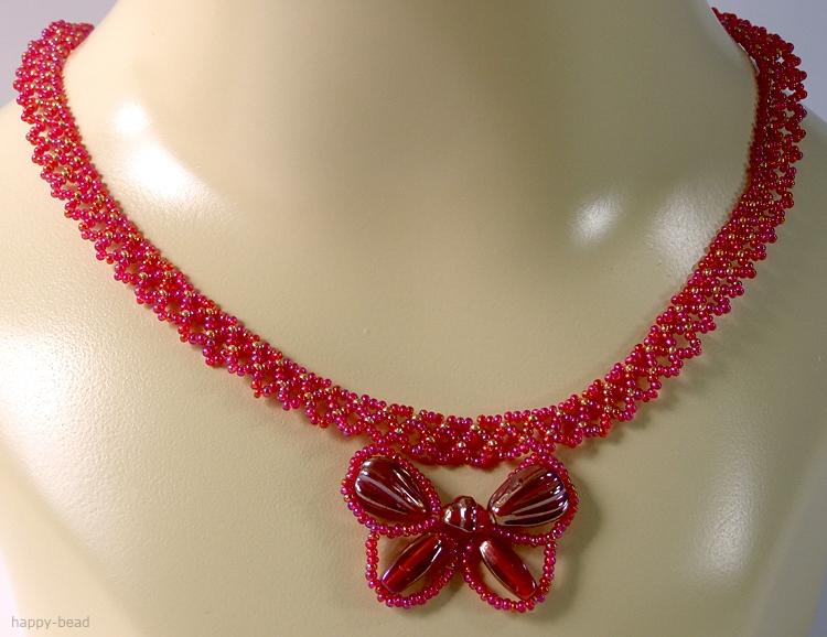 Necklace «Exotic Butterfly»