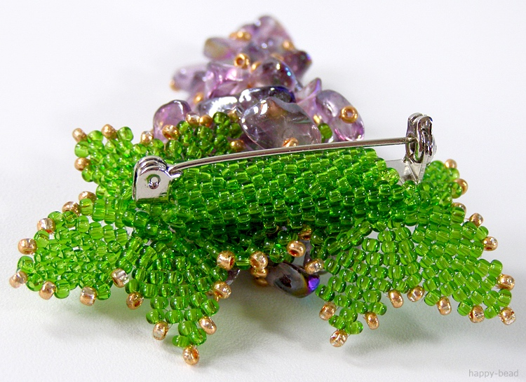 Brooch «Ripe grapes»