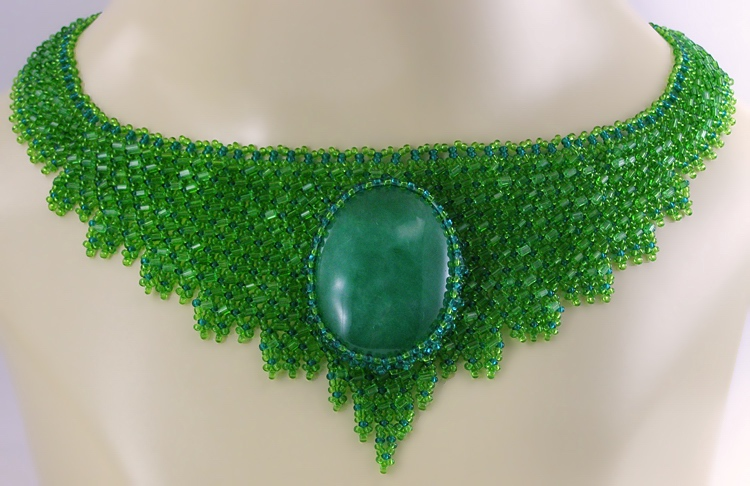 Necklace «Green Goddess»