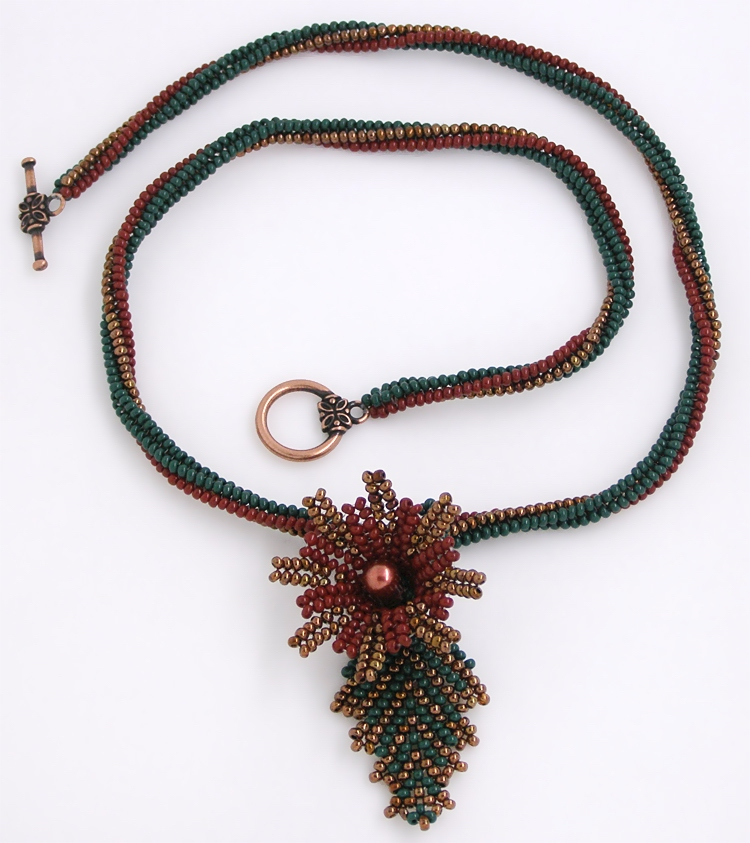 Necklace «Rainforest Flower»