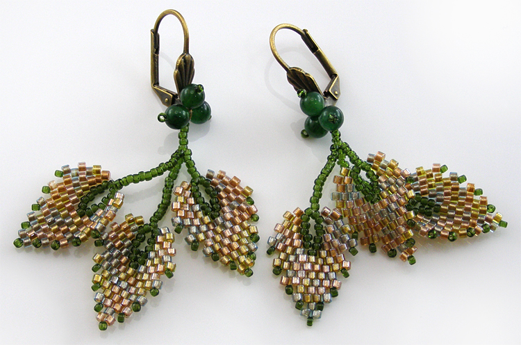 Ear rings «Leaf fall»